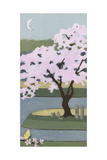 Cherry Tree, Spring, 2013 Giclee Print by Megan Moore