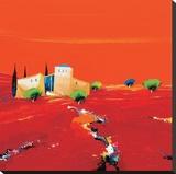 Terre des Ocres Rouges Reproduction transférée sur toile par Christian Eurgal