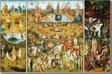 Lustarnas trädgård, ca 1504 Sträckt Canvastryck av Hieronymus Bosch