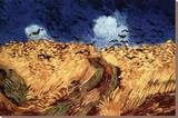 Vincent Van Gogh Wheatfield with Crows Art Print Poster Stretched Canvas Print