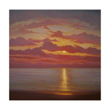 Northern Sea, 2005 Sunset Seascape Giclee Print by Lee Campbell