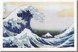 The Great Wave at Kanagawa , c.1829 Stretched Canvas Print by Katsushika Hokusai