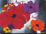 Art Poppies Lærredstryk på blindramme af Aurélie Pfaadt