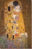 De Kus, c.1907 Kunst op gespannen canvas van Gustav Klimt