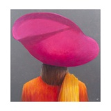 Magenta Hat, Saffron Jacket, 2014 Giclee Print by Lincoln Seligman