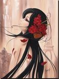 Lilou Paris et Romance I Stretched Canvas Print by Aurélie Rhumeur