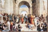 Raphael - School Of Athens Stretched Canvas Print