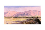 Mountain Village, Near Yazd Giclee Print by Bob Brown