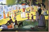 A Sunday on La Grande Jatte 1884, 1884-86 Stretched Canvas Print by Georges Seurat