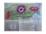 Anemones in White Jug, 2013 Giclee Print by Ruth Addinall