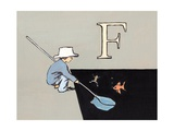 F Is for Fishing, 2014 Giclee Print by Luke Martineau