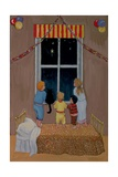 Waiting for Father Christmas Giclee Print by Margaret Loxton