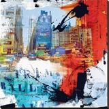 8ème rue Bedruckte aufgespannte Leinwand von Vincent Gachaga