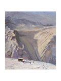 Terrasse - Morning - Val d'Isere Giclee Print by Bob Brown