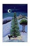 Sheep in a Winter Landscape Giclee Print by Margaret Loxton