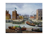 Entrance to Regent's Canal Dock Giclee Print by Margaret Loxton