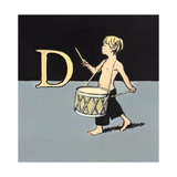 D Is for Drummer, 2014 Giclee Print by Luke Martineau