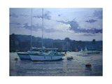 Moored Yachts, Late Afternoon Giclee Print by Jennifer Wright