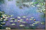 Claude Monet - Waterlilies - Şasili Gerilmiş Tuvale Reprodüksiyon