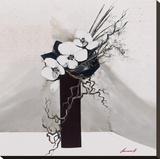 Délicatesse d'orchidées I Toile tendue sur châssis par Olivier Tramoni
