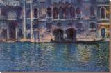 Venice Palazzo Da Mula Stretched Canvas Print by Claude Monet