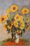 Les tournesols, vers 1881 Reproduction sur toile tendue par Claude Monet