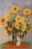 Sunflowers, c.1881 Kunst op gespannen canvas van Claude Monet