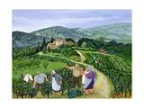 Chianti Classico, Villa Trasqua Giclée-tryk af Margaret Loxton