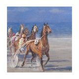 Trotting Races, Lancieux, Brittany, 2014 Giclee Print by Lincoln Seligman