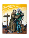 Einstein and the Jealous Monk, 2004 Giclee Print by Chris Gollon