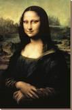 Mona Lisa Trykk på strukket lerret av Leonardo Da Vinci