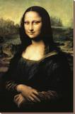 Mona Lisa Stretched Canvas Print by  Leonardo da Vinci