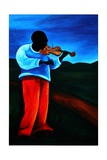 Ti-Jean Le Violoniste, 2008 Giclee Print by Patricia Brintle