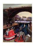 Regent's Canal Lock Giclee Print by Margaret Loxton