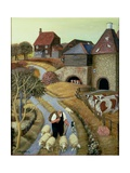 French Street Farm Giclee Print by Margaret Loxton