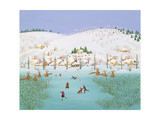 On the Frozen Lake, 1987 Giclee Print by Magdolna Ban