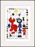 Personnage et Oiseaux Poster by Joan Miró