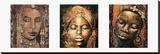 Composición africana Reproducción en lienzo de la lámina por Fabienne Arietti