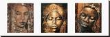 Composition Afrique Stretched Canvas Print by Fabienne Arietti