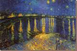 Starry Night Over the Rhone, c. 1888 Trykk på strukket lerret av Vincent van Gogh