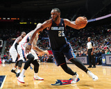 Dec 28, 2013, Charlotte Bobcats vs Atlanta Hawks - Al Jefferson Photographic Print by Scott Cunningham