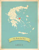 Greece My Roots Map, blue version (includes stickers) Art by Rebecca Peragine