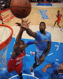 Feb 9, 2014, Philadelphia 76ers vs Los Angeles Clippers - Lavoy Allen, DeAndre Jordan Photographic Print by Andrew Bernstein
