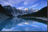 Lake Moraine Stretched Canvas Print by Charlie Munsey