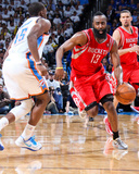 Apr 24, 2013, Houston Rockets vs Oklahoma City Thunder (Game Two) - James Harden, Reggie Jackson Photographic Print by Layne Murdoch
