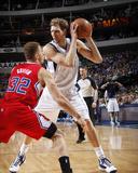 Mar 27, 2014, Los Angeles Clippers vs Dallas Mavericks - Dirk Nowitzki Photographic Print by Glenn James
