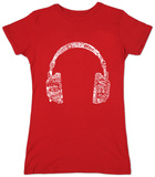 Juniors: Headphones-Languages T-shirts