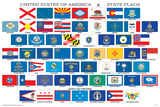 Banderas de los estados de EE.UU. Láminas