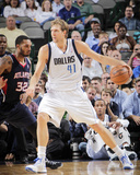 Oct 23, 2013, Atlanta Hawks vs Dallas Mavericks - Mike Scott, Dirk Nowitzki Photo by Glenn James