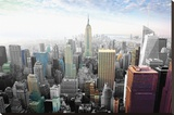 New York - Cityscape Colors Stretched Canvas Print